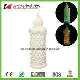 Estatua de cerámica blanca de la pista del conejo para la decoración de la pared