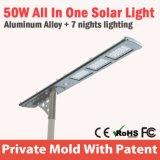 Cellule photo-électrique légère solaire de lampe de route de réverbère de la CE DEL de boîtier en aluminium intelligent