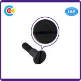 Стальная черная кнопка цинка M5/винт круглых/плоской головки нештатной прорезанный таможней