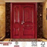 外部木製のドアの木の前部両開きドアデザイン(GSP1-023)