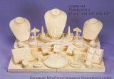 Visualizzazione di lusso del tessuto & di legno per gli insiemi dei monili