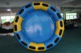 Balsa redonda amarilla y azul inflable
