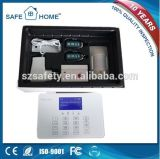 Sistema de alarma sin hilos del G/M de la seguridad casera de Bluguard Digital de la pantalla táctil