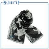 Charmuseのクリーム色手によって転送囲まれるトルコの絹のスカーフのデジタルプリント