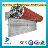 Profil en aluminium personnalisé d'extrusion de porte d'obturateur de roulement de garage de rouleau de Double couche