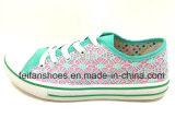 最も新しい女性の注入のズック靴の余暇の履物の靴(FFDL0111-01)