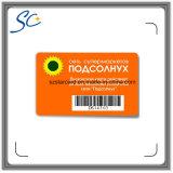 Cartão plástico do código de barras do PVC da impressão feita sob encomenda da alta qualidade