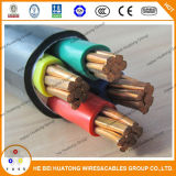 Cabo distribuidor de corrente de cobre 0.6/1kv do PVC 5core