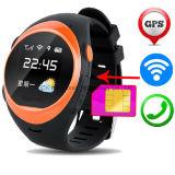 Teléfono móvil androide SOS del reloj del perseguidor del GPS de 2017 nuevos productos que llama un reloj elegante más viejo