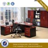 Hölzerne Beine auf lagerl Form-leitende Stellung-Schreibtisch (HX-FCD012)