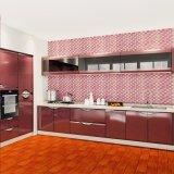 贅沢な優雅のホームデザイン赤いカラー高い光沢のあるラッカー食器棚