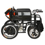 El sillón de ruedas eléctrico del transporte puede plegable