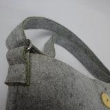 Изготовленный на заказ мешок войлока Tote способа с карманн застежки -молнии фронта снаружи