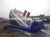 Glissière gonflable de bateau de pirate pour le parc d'attractions