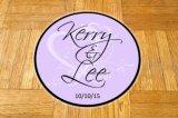 Collants d'étiquette d'étage de mariage de monogramme de séquence type d'étiquettes de Dance Floor