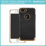 Золото покрыло роскошное iPhone аргументы за крышки телефона волокна углерода PC 7 7plus