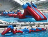 Gioco gonfiabile dell'acqua di ostacolo, sosta di galleggiamento dell'acqua