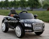 플라스틱 장난감이 Audi A8l 전차에 의하여 농담을 한다