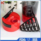 Cup-Plastikschüttel-apparatflasche des Wirbelsturm-600ml mit Filter und Behältern (KL-7008)