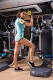 女性のセクシーな動揺の練習の走っている列車適性の体操のトラックスーツのスポーツ・ウェア