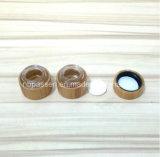 Cap/PPの内部のびん(PPC-BS-008)が付いているすべてのタケ装飾的なクリーム色の瓶