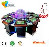 La máquina de juego lujosa real de la ranura de la ruleta con la máquina de juego electrónico del validador de Bill