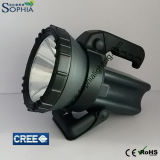 Leistungsfähiges 10W nachladbare und wasserdichte LED-Fackel für die Fischer, die Abstand 800m beleuchten