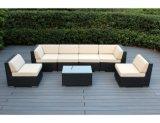 Il sofà sezionale del patio delle 7 parti della mobilia del rattan esterno del PE ha impostato con l'ammortizzatore