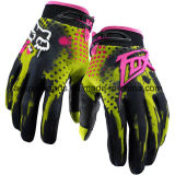 Желтое горячее сбывание резвится перчатки для всадника мотоцикла/велосипеда (MAG11)