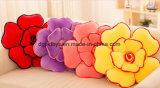 다채로운 3D 모양 견면 벨벳 꽃 베개