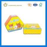Stuk speelgoed die van de Gift van de Kinderen van de Kleur van de douane het Leuke Zoete Doos (Boek gevormd Vakje) inpakken