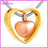 Ожерелье памяти ожерелья женщин нержавеющей стали сердца Duble привесное (IJD8078)
