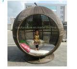 Rattan provato SGS/BV Apple Sunbed della mobilia del giardino
