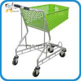 Carrito de la cesta de aluminio de la cesta de plástico 50L