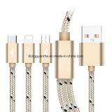 3 в 1 кабеле данным по USB поручая для iPhone/Android/Типа-C
