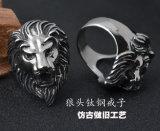 De Juwelen van de Ring van de Leeuw van het Roestvrij staal van het Titanium van de manier