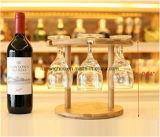 Декор 6 деревянного стекел держателя стекла вина держателя бутылок вина
