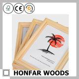A4 Cor natural Moldura de foto em madeira para decoração