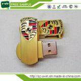 Los artículos promocionales Mini eslabón giratorio del metal de memoria USB