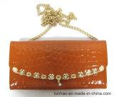 Shiny Emboss PU Wallet della nuova signora con la catena per la spalla