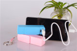 Сползать пластичный крен 2600mAh силы, портативная батарея USB