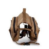 Baumwollsegeltuch-Hundesatz-Jagdhund-Arbeitsweg, der Hunderucksack-Sattel-Beutel-Rucksack für mittleren u. großen Hund wandernd kampiert
