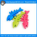 Juguete hueso de perro con mascotas pescados del silicón Mordedor para la salud de los dientes del perro