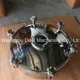 pressione Manway di 200mm Circule con 6 rotelle di mano