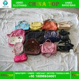 中国の上の使用された衣服の倉庫からの袋のバルク卸し売り使用された袋のランドセル