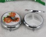 Промотирование рекламируя подарок - устроителя случая хранения микстуры снадобья портативных круглых шлицев коробки 3 пилюльки медицинский