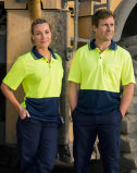 High Visibility Cooldry Polo de manga corta Uniforme