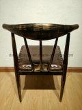 뒤를 가진 의자를 식사하는 유행 우아하게 구부려진 금속 다방 또는 식사 의자 또는 우아한 금속