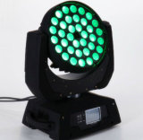 DMX512ズームレンズの洗浄クリー族LEDの移動ヘッドライト36X10W