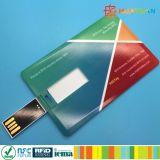細いデザインスマートなカラー完全な印刷USBの名刺のフラッシュ駆動機構